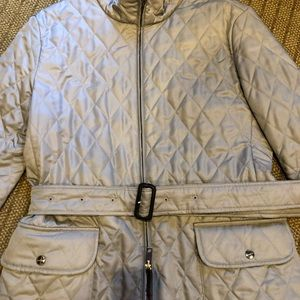 Burberry khaki quilted jacket